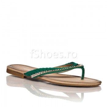 Papuci Vicky - Verde