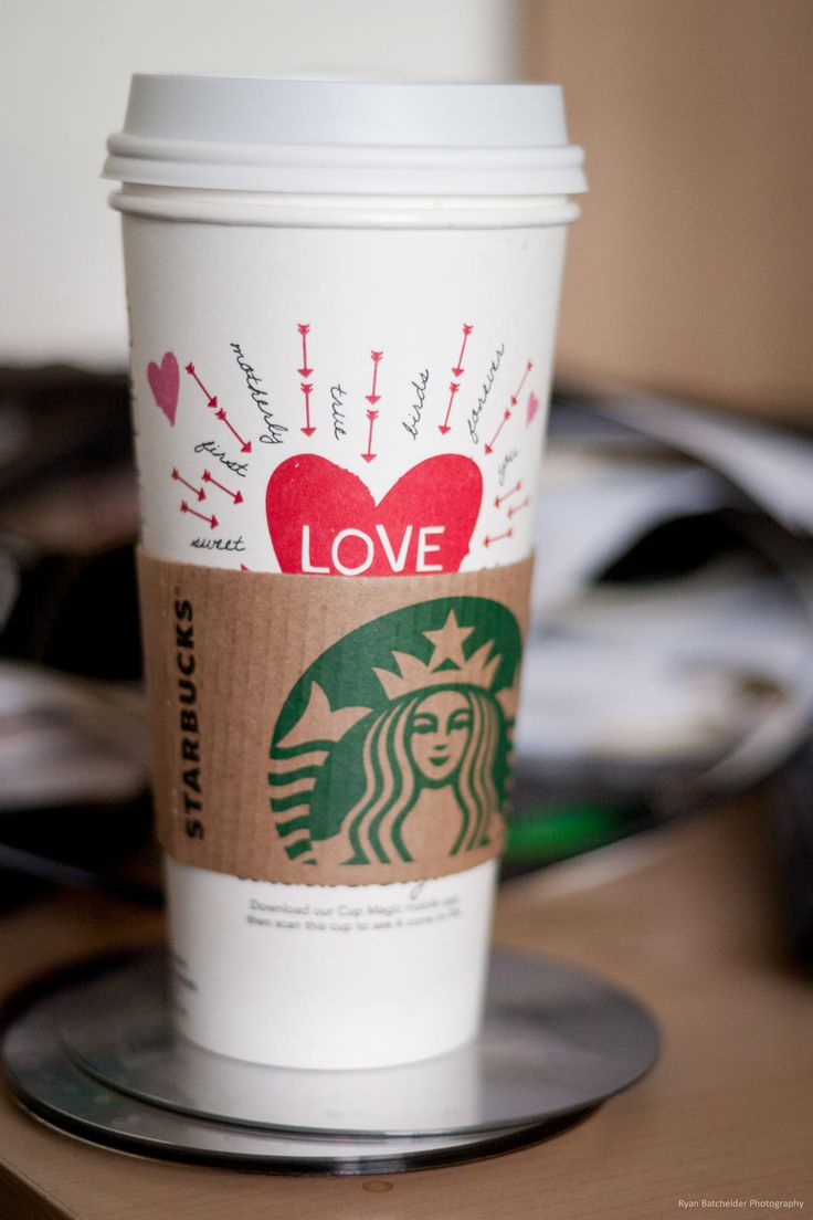 A Starbucks Valentine's Day cup describing my thoughts on the drink inside.