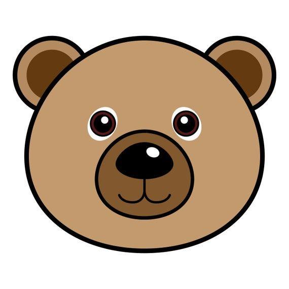 Bear Svg Bear Eps Bear Png Bear Cartoon Cute Bear Bear Head Brown Bear Bear Face Happy Bear Teddy Bear Good Bear Bear Smiling In 2021 Bear Face Drawing Bear Cartoon