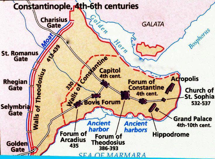 map of Constantinople | Hagia Sophia | Pinterest | Hagia ...
