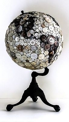 world globe made with buttons