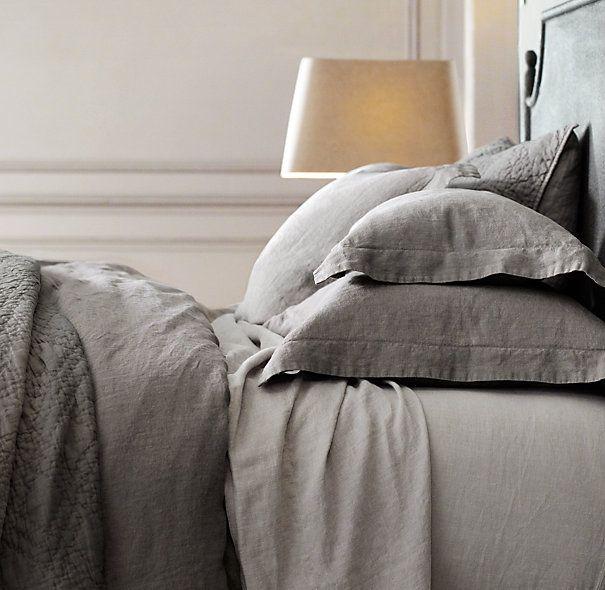 Stonewashed Belgian Linen Bedding Collection | Bed Linens | Restoration Hardware
