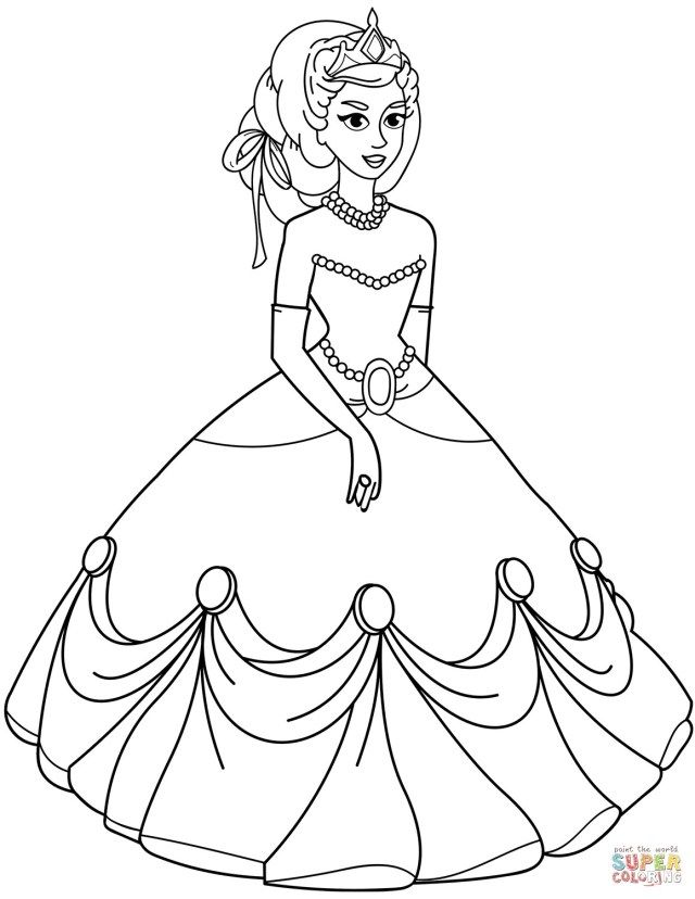 25 Pretty Photo Of Coloring Pages Princess Albanysinsanity Com Princess Coloring Pages Princess Coloring Princess Coloring Sheets