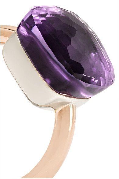Pomellato - Nudo Maxi 18-karat Rose Gold Amethyst Ring - 11