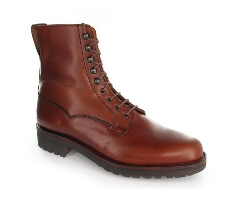 Crockett & Jones Snowdon, a plain front derby boot made using the water-resistant Veldtschoen construction. Featuring waterproof wax-hide uppers, bellows tongues and heavy duty Commando rubber soles. This specialised boot is available from the Mens Main Collection.