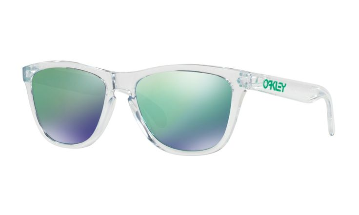 Shop Oakley Frogskins Crystal Collection in POLISHED CLEAR / SAPPHIRE IRIDIUM at the official Oakley online store.