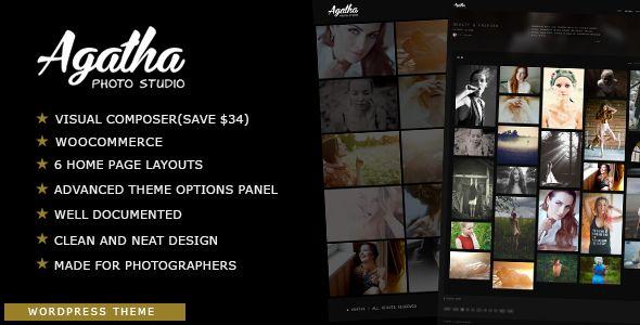 Agatha - Photography Portfolio WordPress Theme