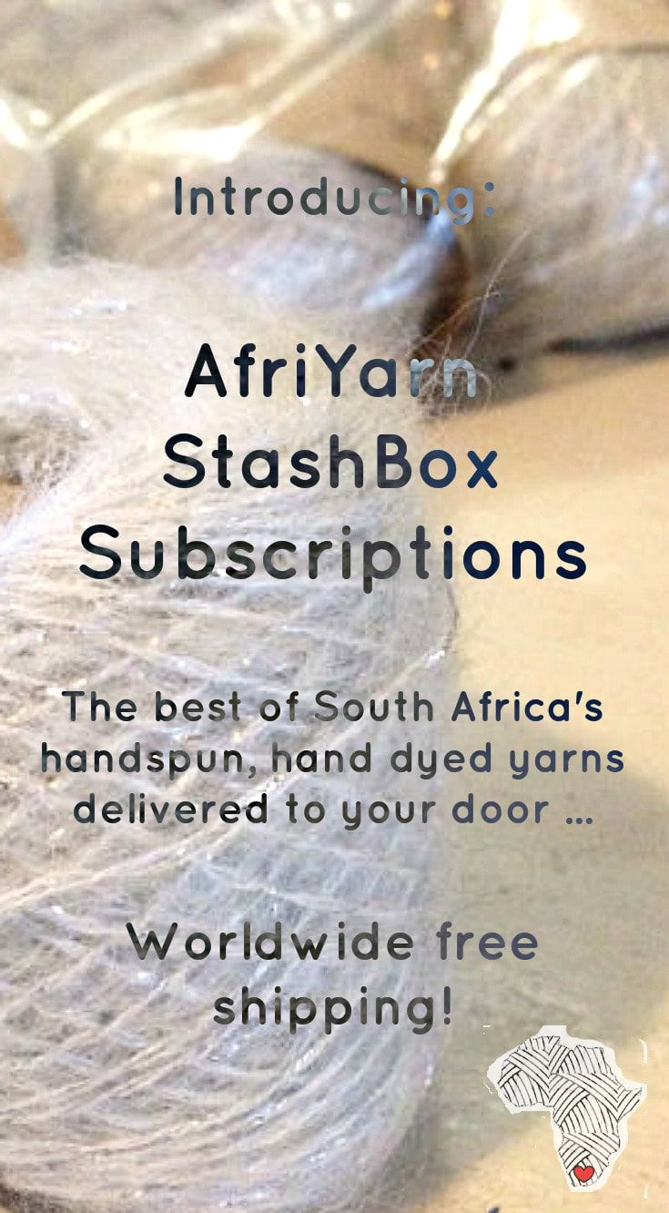 Introducing the AfriYarn StashBox Yarn Subscription service. Get the very best of South Africa's boutique yarns delivered to your door, with free shipping worldwide! #yarn #subscription #crochet #knit