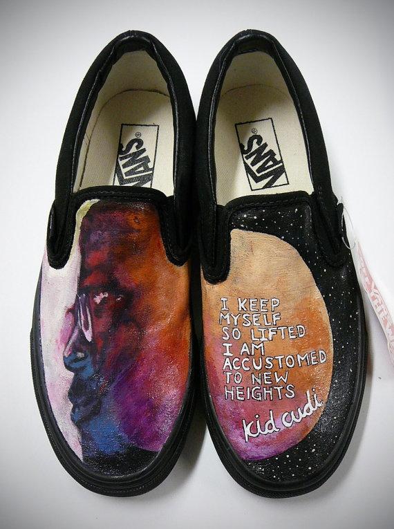 Hand Painted Kid Cudi Custom Vans Shoes