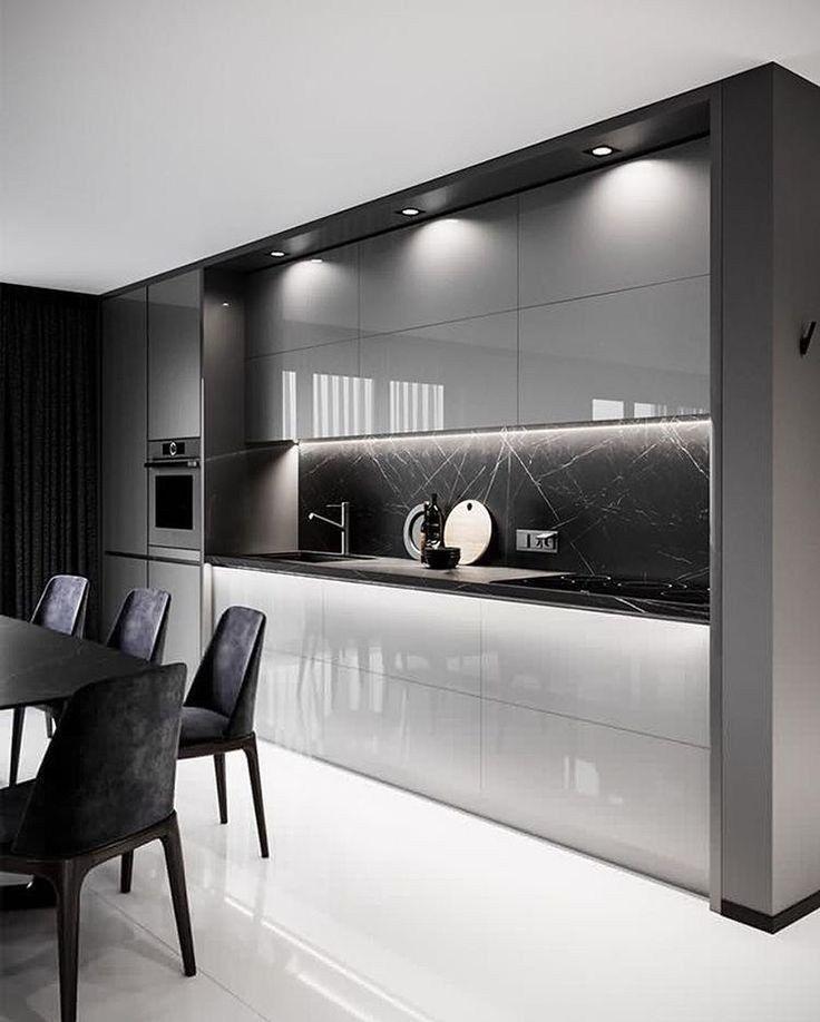 ✔60 gorgeous black kitchen ideas for every decorating style 37 #kitchendesign #kitchenideas
