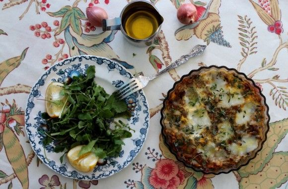 Shallot and Thyme Frittata