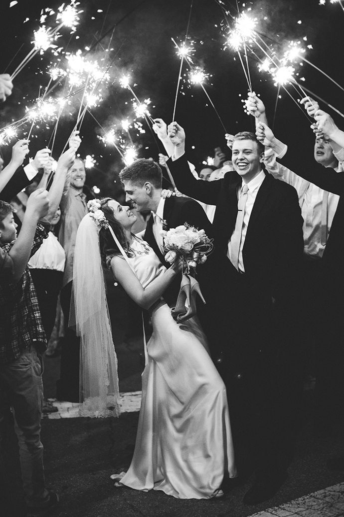 You need a sparkler sendoff, of course!