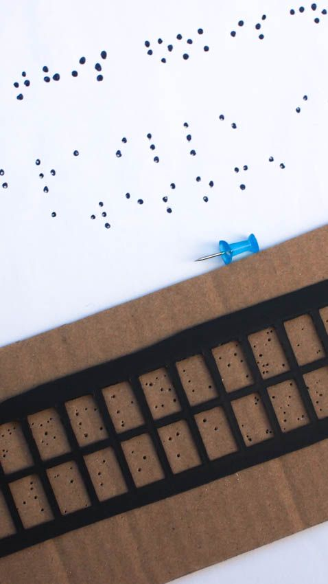 Make a simple braille slate and stylus- inspired by Six Dots:  A Story of Young Louis Braille) Check out all the 28 Days of STEAM Projects for Kids for fun science, technology, engineering, art, and math activities!
