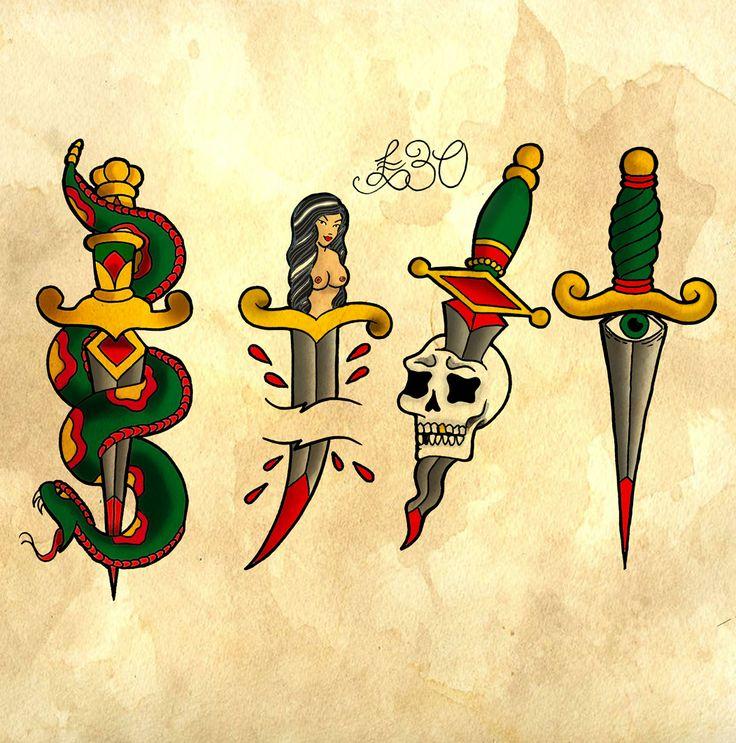 american traditional flash tattoo designs - Google Search