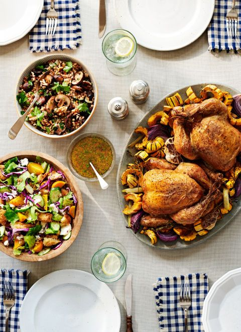 As each weekend comes to an end, gather your brood around the table for a relaxed, gear-up-for-Monday meal. While certainly company-worthy, this roast chicken won't ruffle your feathers. (It's your weekend too!) Recipe: Roasted Chicken and Winter Squash