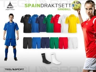 Select Spain komplett draktsett håndball 10+1. Kr 6.898,-