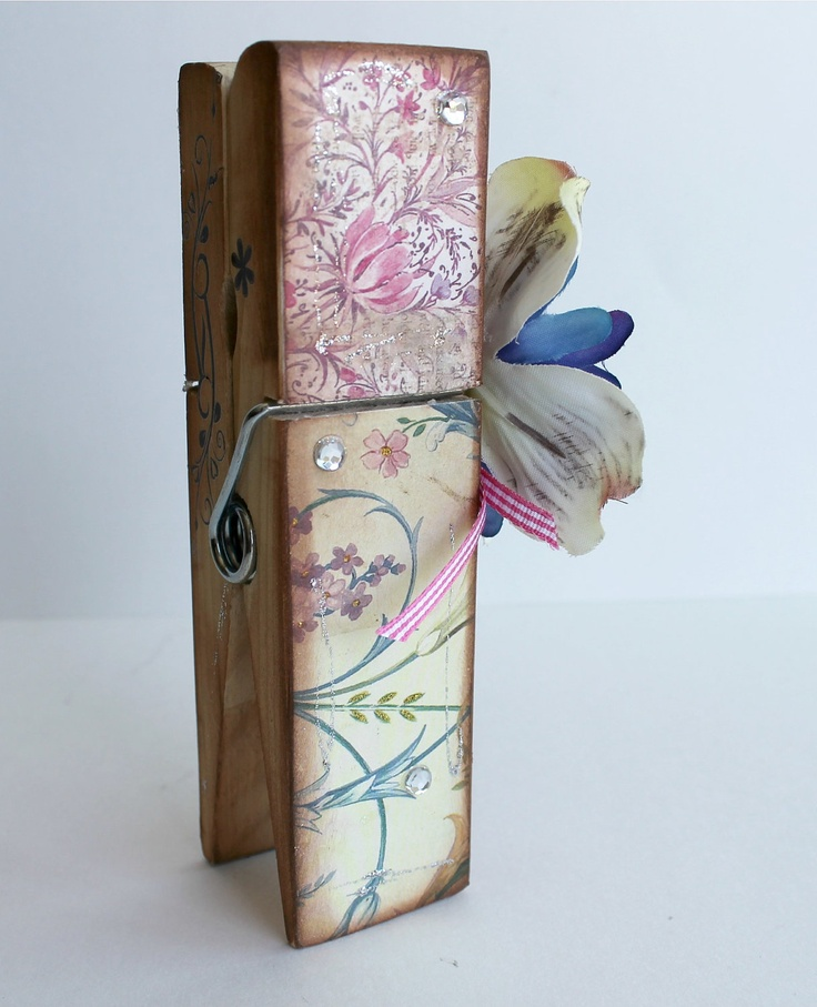 90 best images about clothes pin craft on pinterest - Portafoto con molletta ...