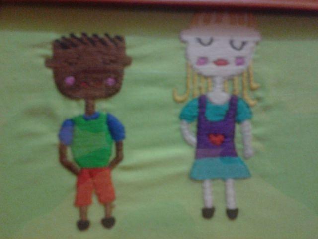 bordado, niños Mateo & Paz