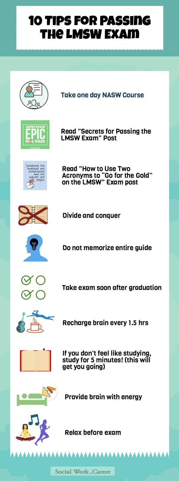 10 Tips To Pass The Lmsw Social Work Licensure Exam  Socialworkreer