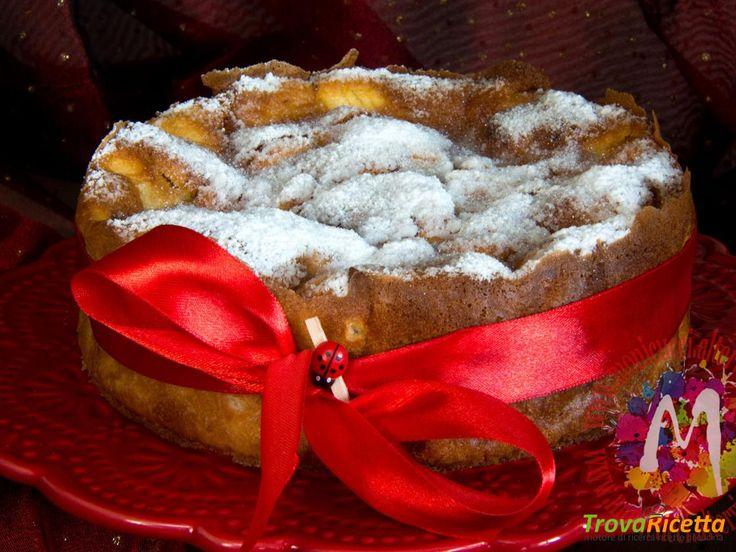 Flan di mele e cannella al profumo di Calvados  #ricette #food #recipes