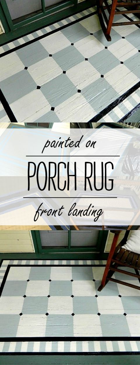 painted porch rug [saving the best for last