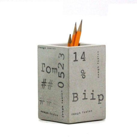 Concrete Square Cup Pencil Holder