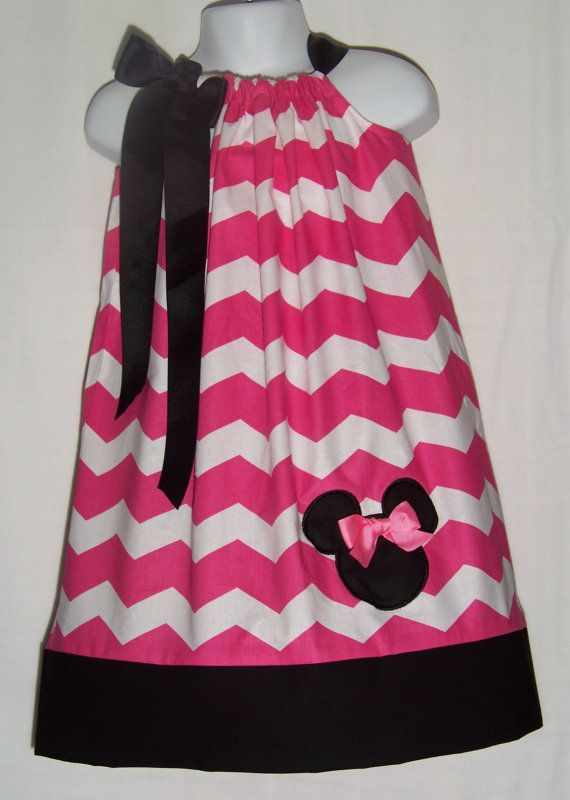MINNIE MOUSE Pink CHEVRON Pillowcase Dress / by KarriesBoutique $29.95 & Best 25+ Minnie mouse toddler dress ideas on Pinterest   Minnie ... pillowsntoast.com