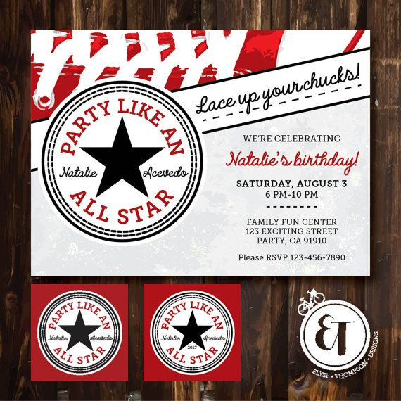 Party Like an All Star by ElyseThompsonDesigns on Etsy