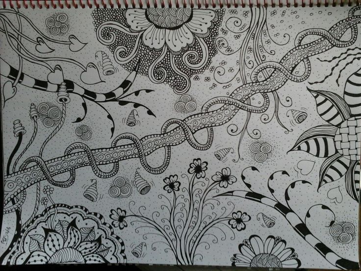 Jungle #zentangle