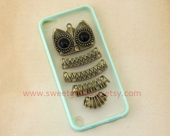 Cute owl Ipod Touch 5 Case, Samsung Galaxy S2 / S3 i9300 / S4 i9500 / note 2 / note 3 case, iphone 4 4s / 5 5s / 5c case on Etsy, $8.99