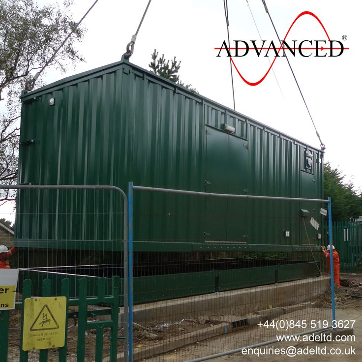 North Yorkshire Sub. The first of five HV switchgear modular housings designed & built by ADVANCED  leaves the manufacturing facility to be installed on a new substation site. www.adeltd.com