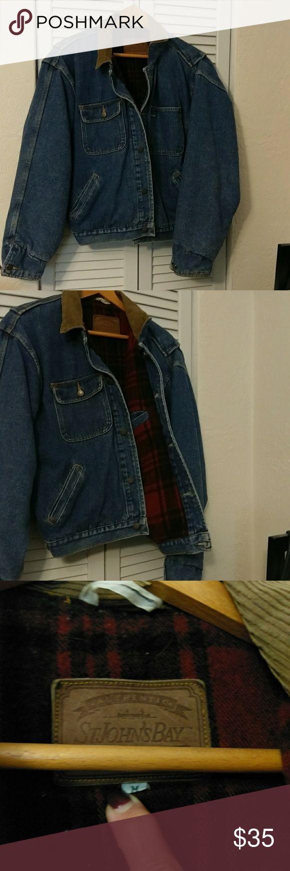Men's Jean Jacket. Flannel lined. St.  John's Bay flannel lined jean jacket St. John's Bay Jackets & Coats Ski & Snowboard