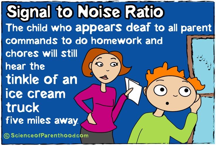 Signal to Noise Ratio #sciencehumor #funny #parenting