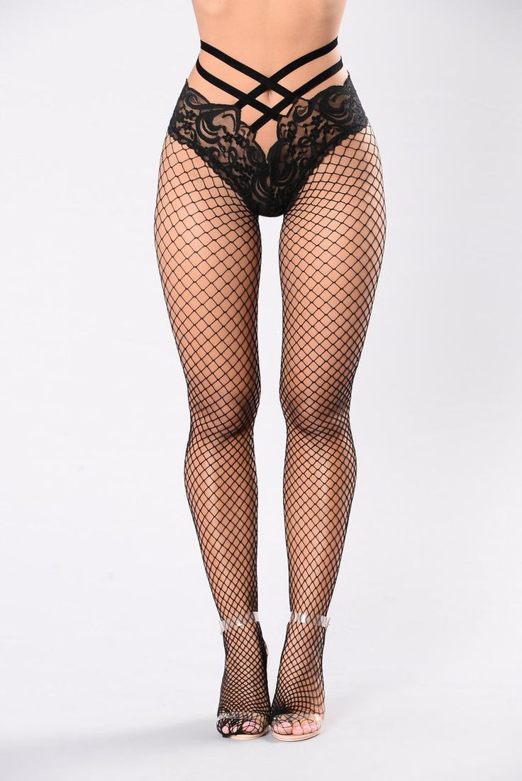 Grab Me By The Waist Fishnets – Black