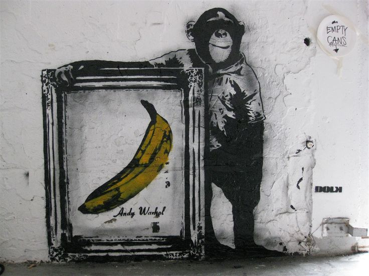 Blek le Rat 000   Monkey with framed banana.