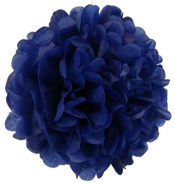Great prices on paper lanterns all sizes and tissue paper poms Tissue Paper Pom Pom 12inch Royal Blue