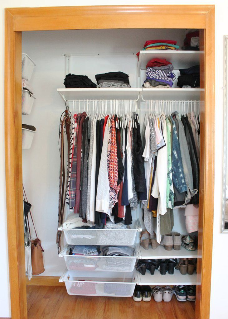 Perfect Have a Small Closet You HAVE to See This Ikea Closet Makeover
