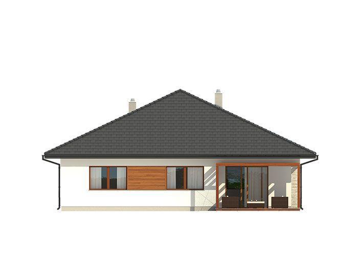 Kotłownia pozwala na zastosowanie kotła na dowolny rodzaj paliwa, a przez przesunięcie ścian działowych można ją powiększyć kosztem holu i wc.