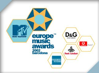 From the Ads MTV Europe Music Awards 2002, all logos next to each other in a certain way.
