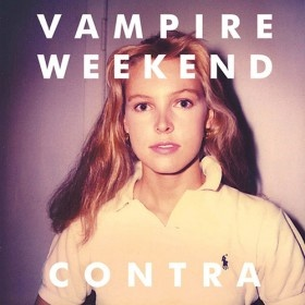 The much-anticipated second album from indie darlings Vampire Weekend, Contra was a hit both commercially (debuting atop the Billboard Hot 200) and critically (eventually landing on many best-of-the-year lists). The album cover image was taken from a discarded Polaroid discovered by Vampire songwriter Rostam Batmanglij — the band was quite taken by the enigmatic look of the blonde-tressed subject.