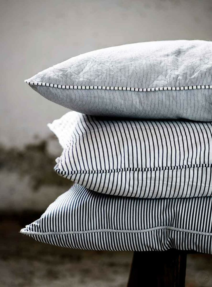 pinstripe pillows