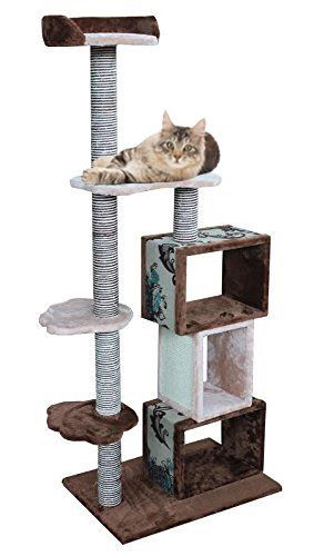 modern cat tree furniture. Modern Cat Tower Furniture Kitty Tree, Brown/Beige \u003e\u003e\u003e Click Sponsored Image For More Details. Tree
