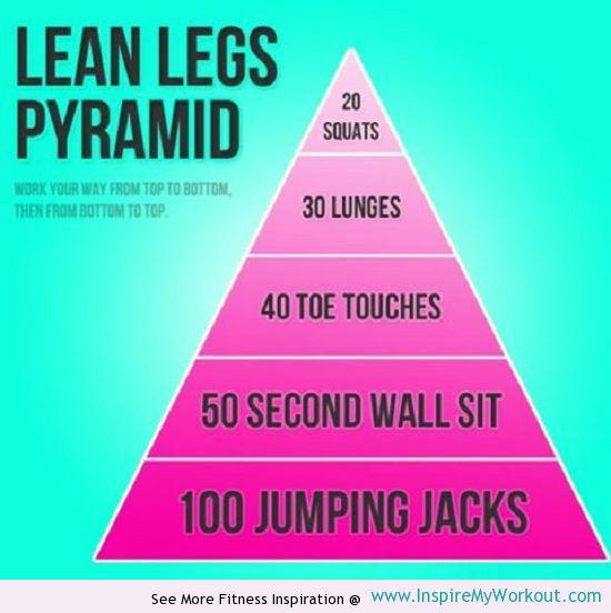 Lean Legs Fitness Pyramid