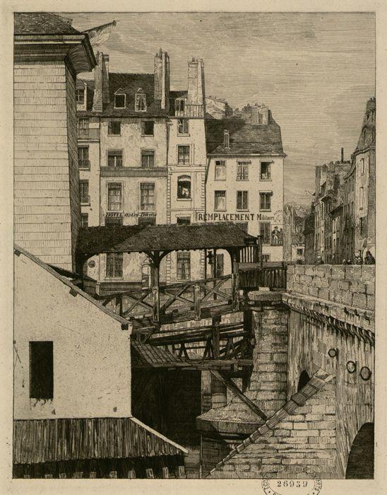 Pont Notre-Dame   La Pompe, 1853