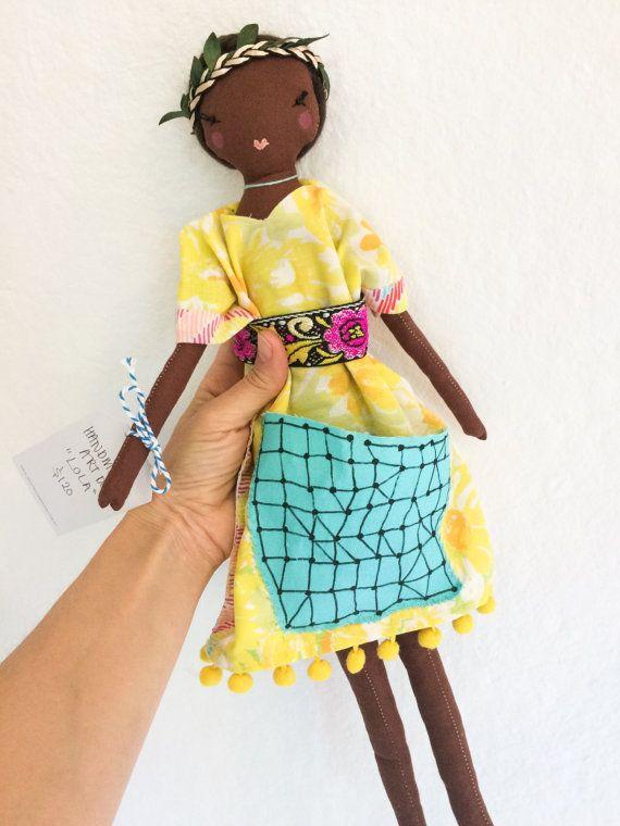 Lola  a one of a kind handmade art doll by lovelysweetwilliam