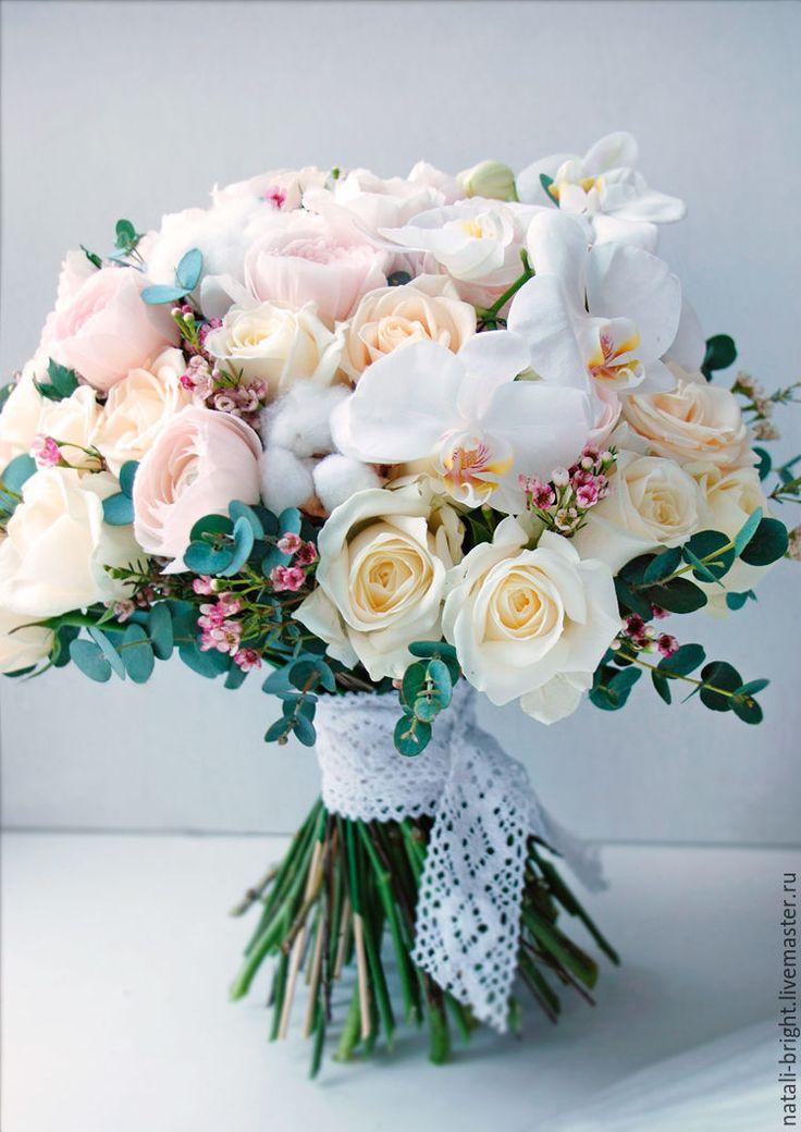 Купить Букет из живых цветов Роскошь - букет для невесты, свадебные цветы, цветы для свадьбы