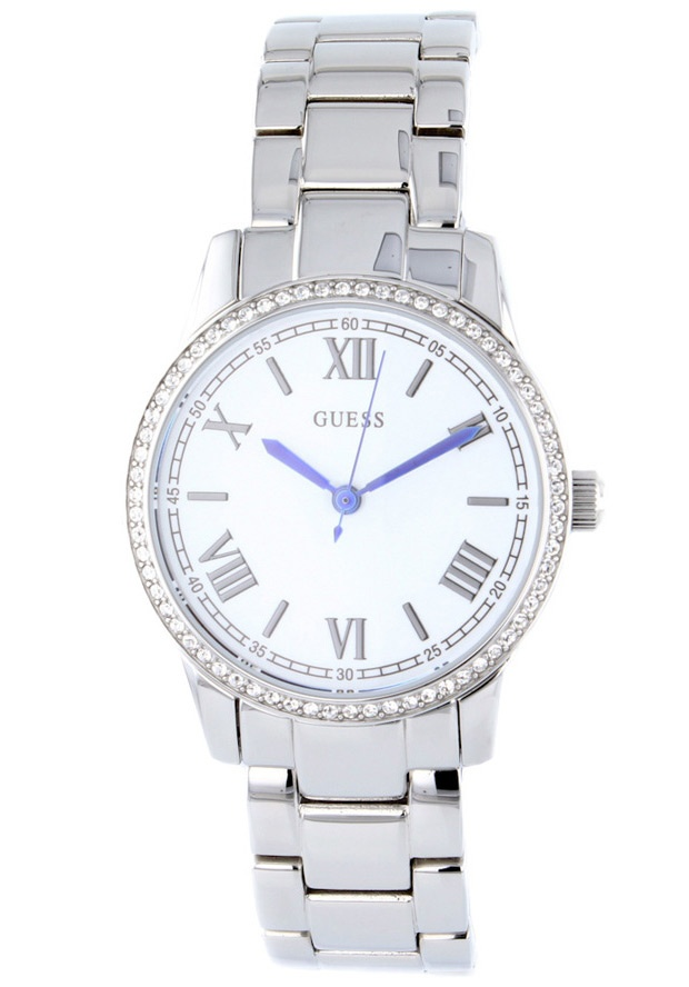 Price:$116.28 #watches Guess W12112L1, Stainless steel case, Stainless steel bracelet, White dial, Quartz movement, Scratch-resistant mineral, Water resistant up to 5 ATM - 50 meters - 165 feet