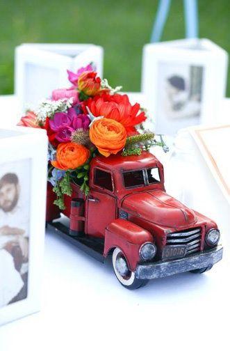 vintage car centerpieces - Google Search