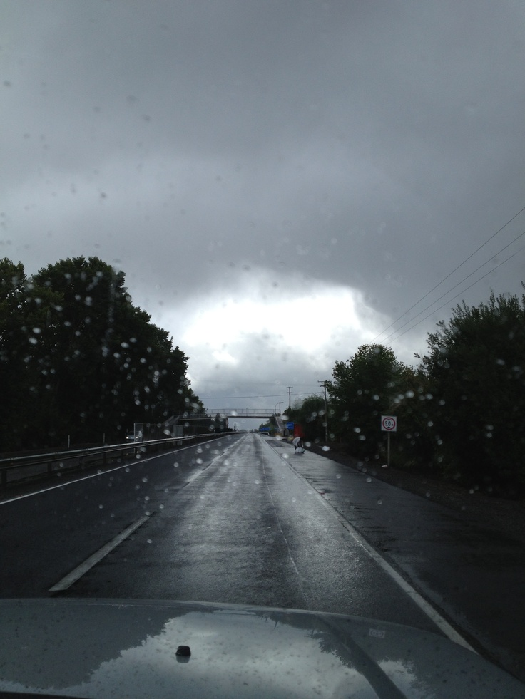 Lluvia camino a Puerto Varas, Chile