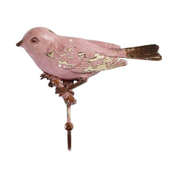 Chique haak gemaakt van ijzer met een vogel erop. Geschikt voor in de hal, keuken, slaap- of badkamer. Makkelijk te bevestigen aan de muur.